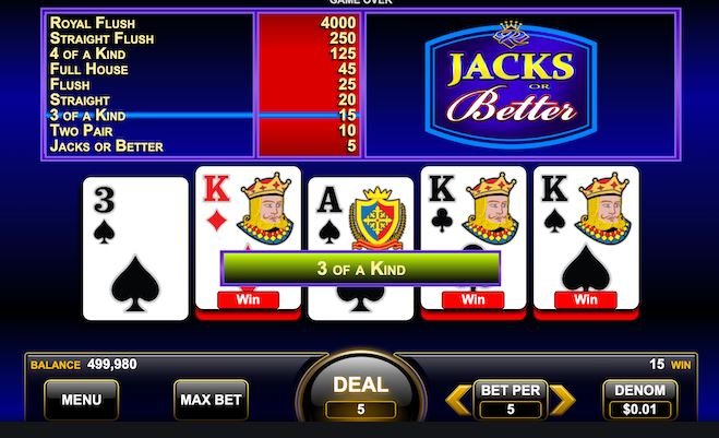 video poker nedir nasil oynanir